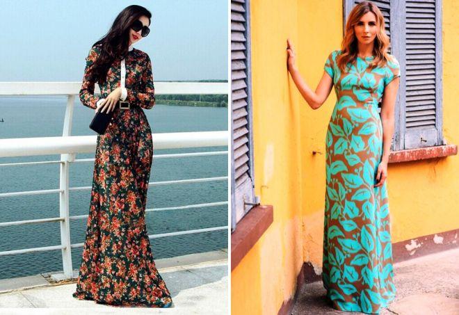 длинные весенние платья