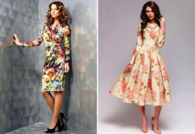 весенние платья в цветочек