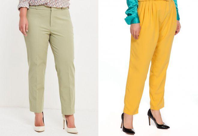 С чем носить брюки-бананы каблук