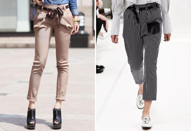 С чем носить брюки-бананы стиль обуви