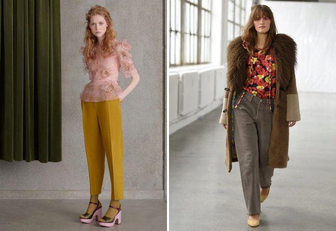 Модные брюки-бананы 2018 ткань