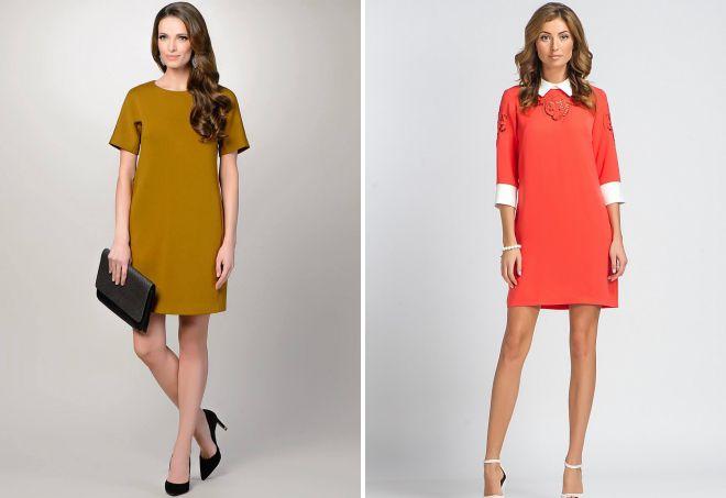 классические прямые платья