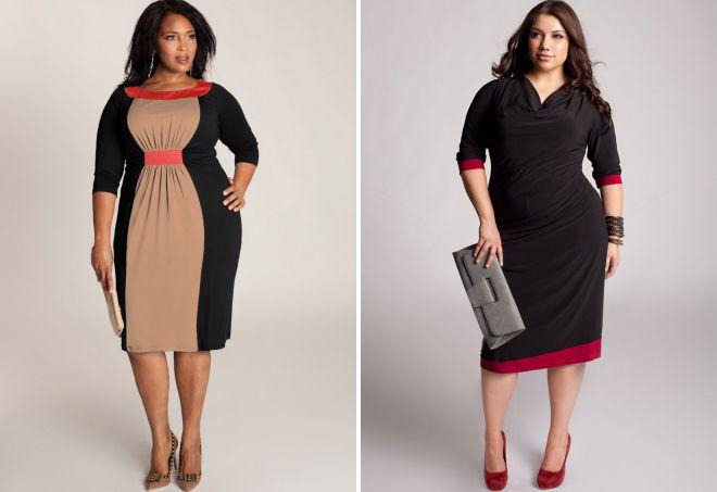 классическое платье для полных женщин