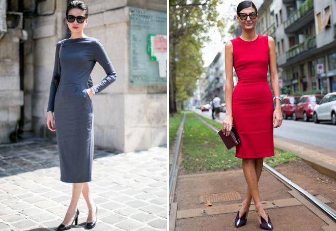 классические платья деловой стиль