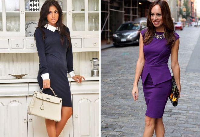 платья классического стиля для деловой женщины