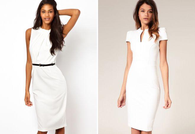 классическое белое платье