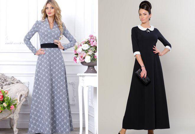 длинные классические платья 2018