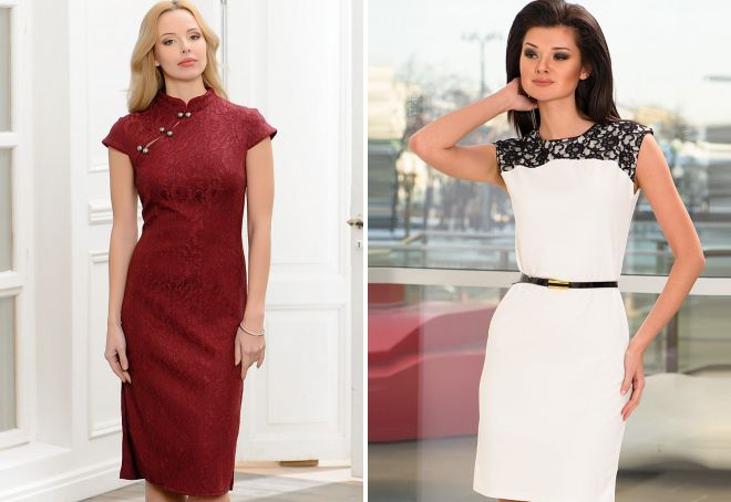 модели классических платьев