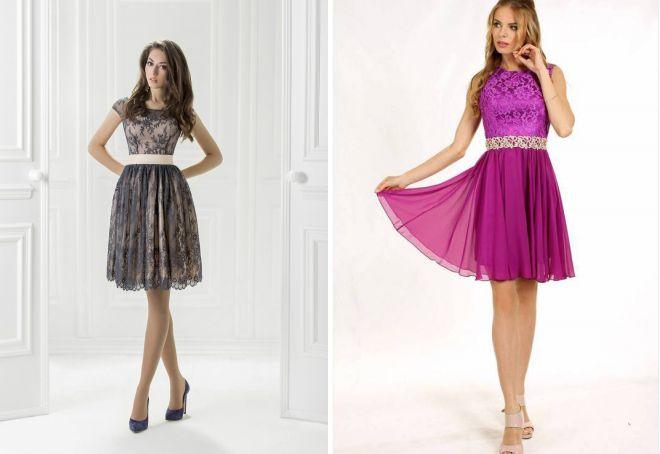 коктейльное платье 2018 с поясом