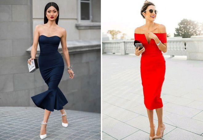 коктейльное платье бюстье 2018