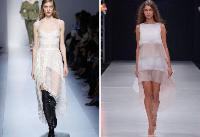 асимметричные коктейльные платья 2018