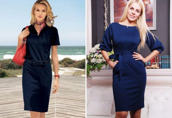 94f2fa137e4 Темно-синие платья для женщин после 40 лет. Глубокие тона небесно-морской  палитры универсальны для любого типа внешности и тематики мероприятия