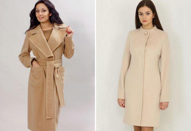 стильные виды пальто