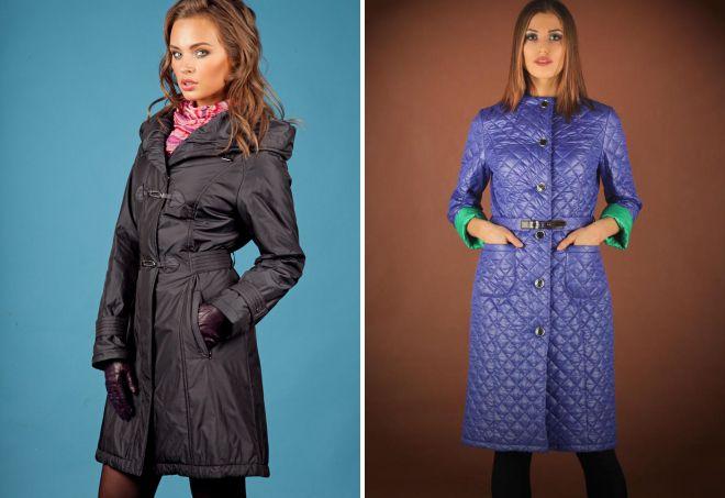 виды женских пальто