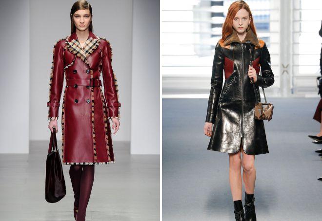 виды кожаных пальто