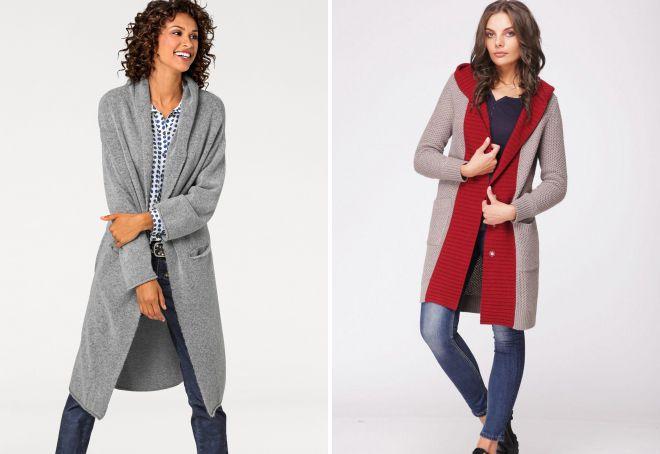 виды трикотажных пальто