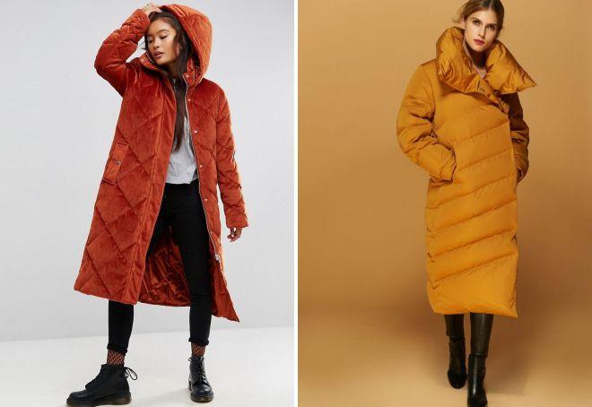 виды пуховых пальто