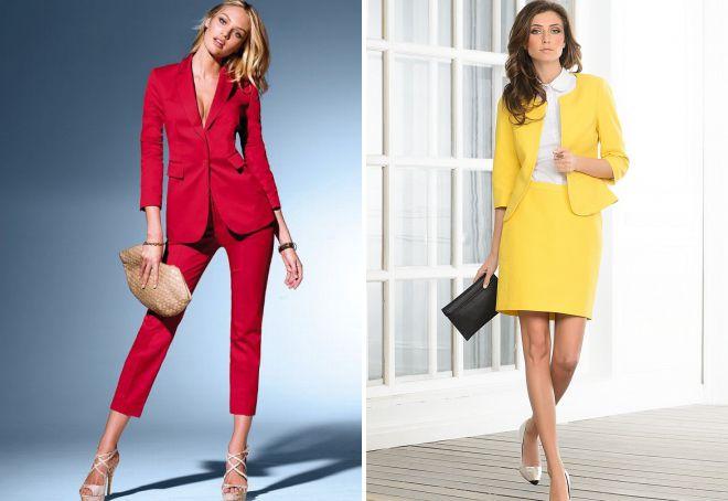 классические костюмы для женщин 2018