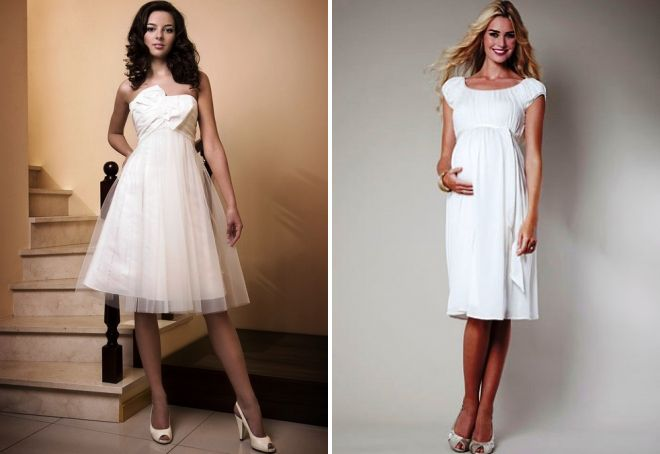 фасоны свадебных платьев для беременных
