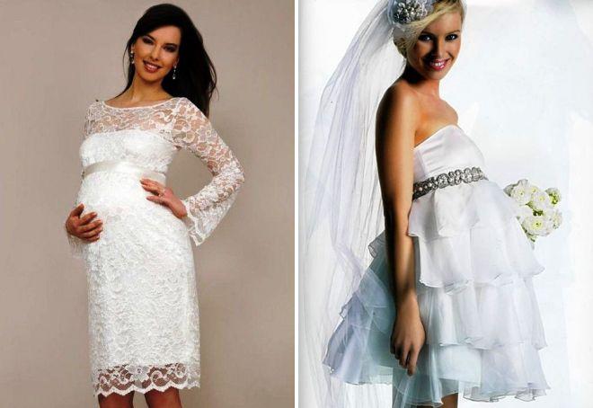 свадебные платья для беременных на большом сроке
