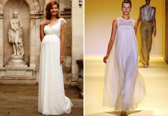 свадебные платья с завышенной талией для беременных