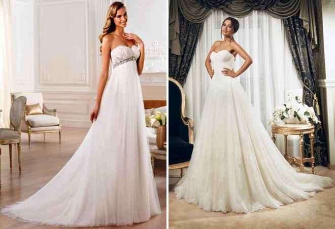 варианты свадебных платьев для беременных