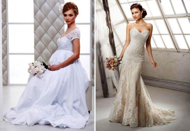ажурное свадебное платье для беременных