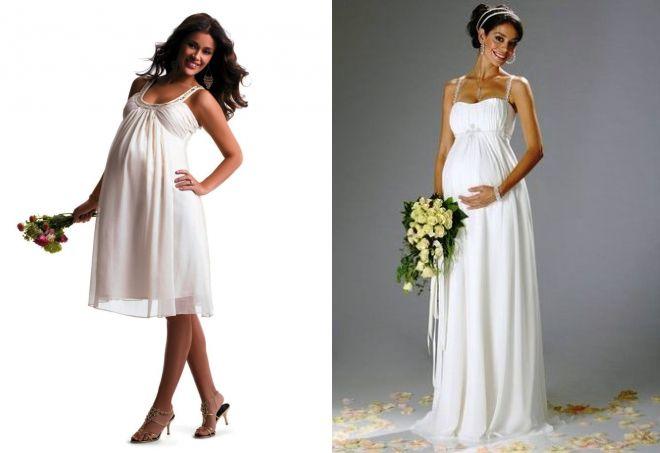 летние свадебные платья для беременных