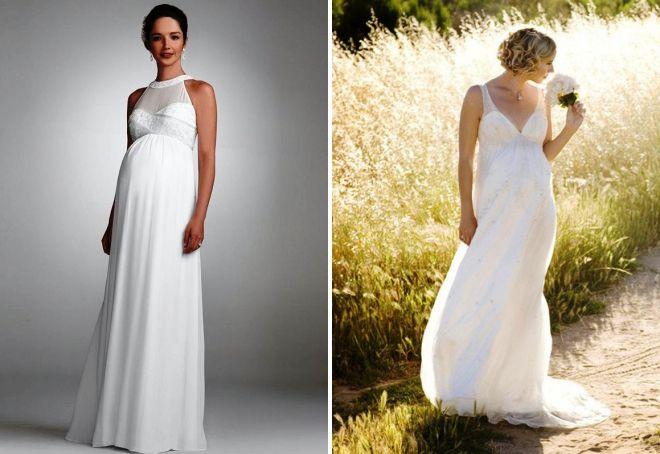 беременные невесты в свадебных платьях