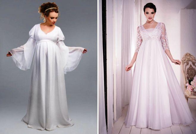 свадебные платья для беременных зимой