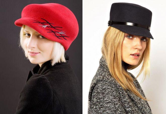 фетровая женская кепка