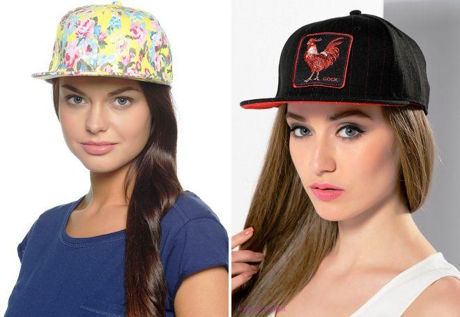 женские кепки с прямым козырьком