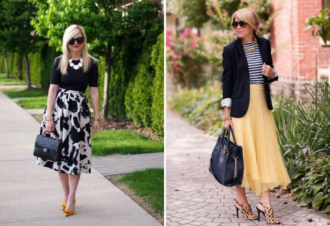фасоны летних юбок для женщин за 50