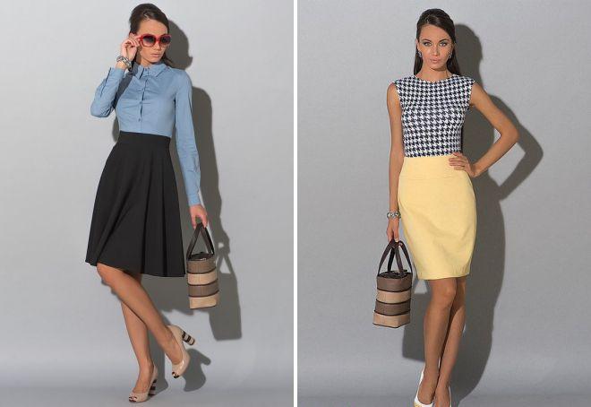 модные фасоны летних юбок