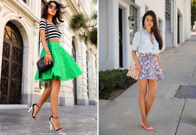 с чем носить короткую юбку летом