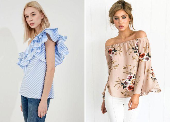 какие блузки в моде летом 2018