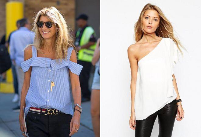 летние блузки 2018 с открытыми плечами