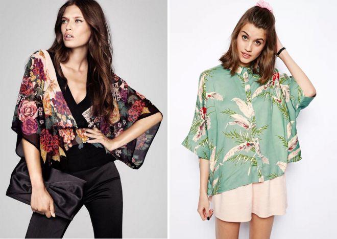 летние блузки кимоно 2018