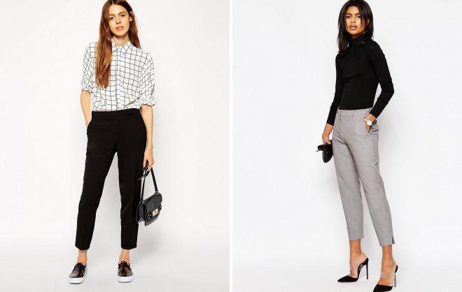 укороченные брюки 2018