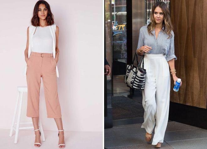 с чем носить женские брюки летом 2018