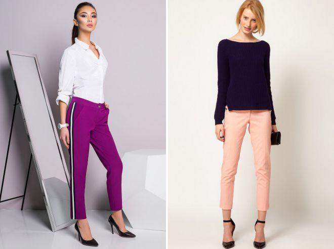 модные цвета брюк 2018