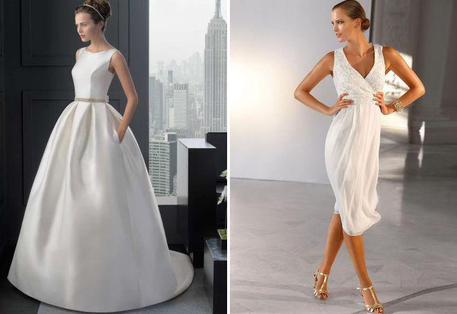 свадебные платья из шелка