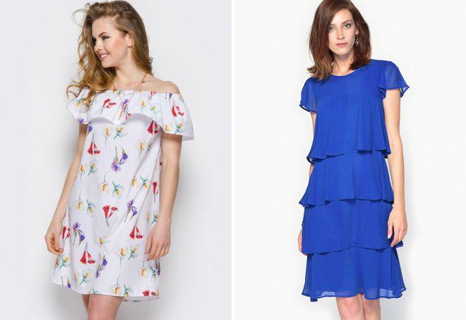 летние платья из шелка