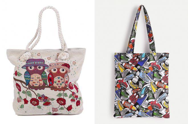 текстильные сумки с принтом