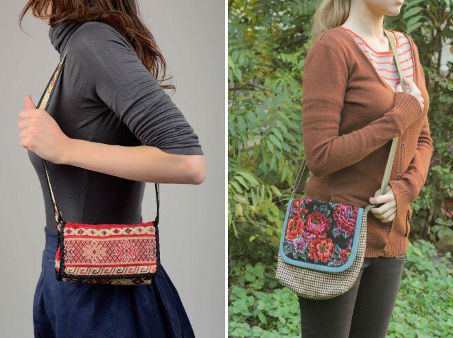 текстильные сумки через плечо