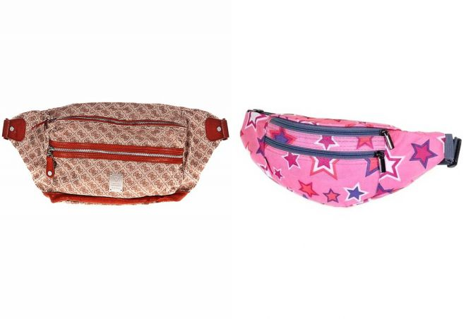 текстильная сумка на пояс