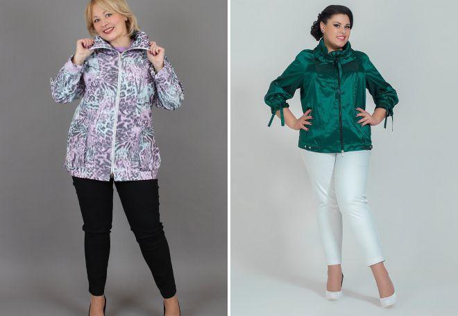 летние куртки для полных женщин
