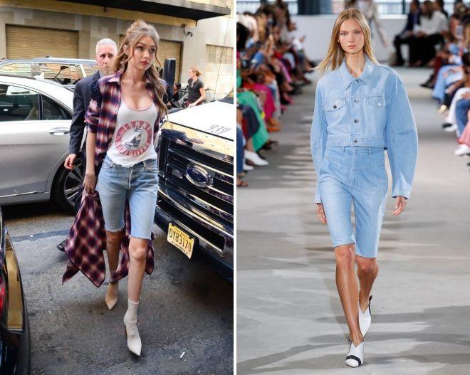 женские джинсовые велосипедки мода 2019