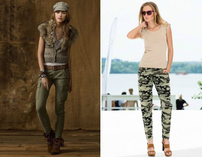 брюки в стиле милитари