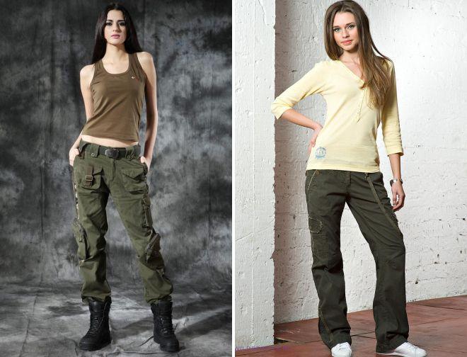 штаны в стиле милитари